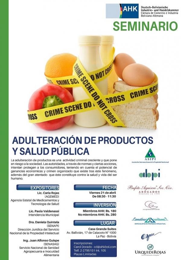 Seminario sobre La adulteración de productos y salud publica